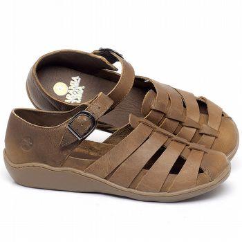 Flat Shoes em couro Caramelo - Código - 139035