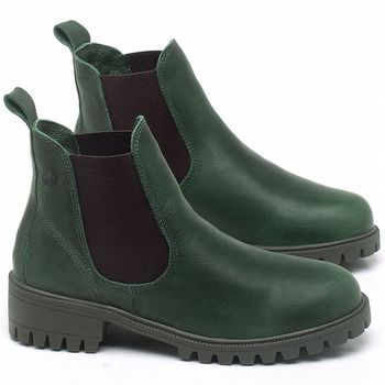 Bota Cano Curto em couro Verde Militar - Código - 137265