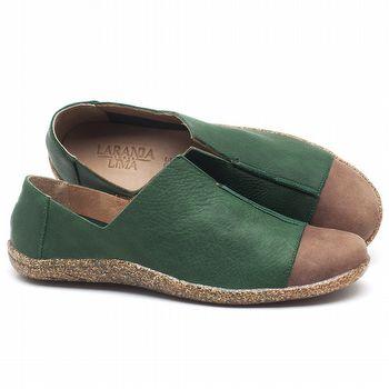 Tênis Cano Baixo em couro Verde - Código - 145025