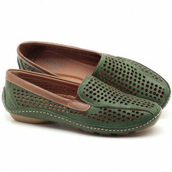 Dockside Flat confortável em couro verde militar - Código - 136010