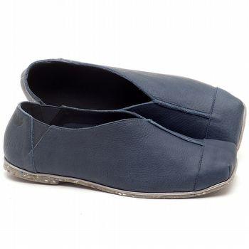 Sapatilha Alternativa em couro Azul Marinho com Pewter - Código - 145034