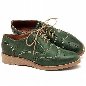 Oxford Flatform em couro Verde Militar - Código - 3592