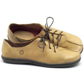 Tênis Cano Baixo em couro Amarelo - Código - 56188