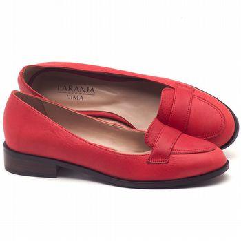 Oxford Flat em couro vermelho - Código - 9439
