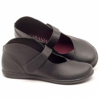 Flat Shoes em couro Preto - Código - 137168