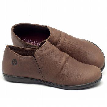 Flat Shoes em couro marrom - CÓDIGO - 137153