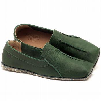 Sapatilha Alternativa em couro verde militar - Código - 145003
