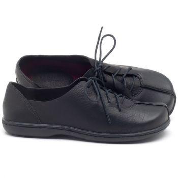 Flat Shoes em couro preto  56188