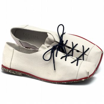 Sapato Fechado Estilo Boho-Chic em couro marinheiro - Código - 145010