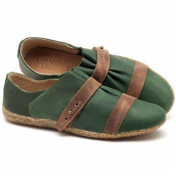 Tênis Cano Baixo em couro verde militar - Código - 145031