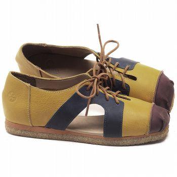 Sapatilha Alternativa em couro Amarelo - CÓDIGO - 3054