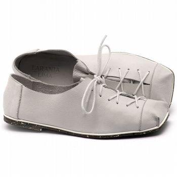 Linhas Flat em couro branco - Código - 145010