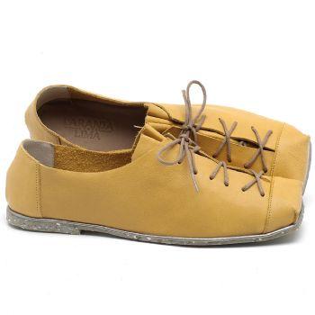 Sapatilha Alternativa em couro Amarelo - Código - 145010