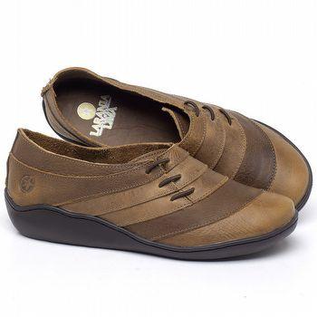 Flat Shoes em couro Caramelo - Código - 139032
