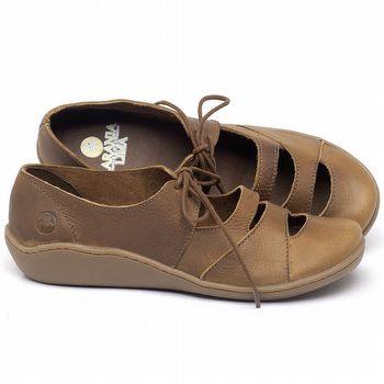 Flat Shoes em couro Caramelo - Código - 139034