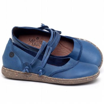 Sapatilha Alternativa em couro Azul Bic - Código - 137267