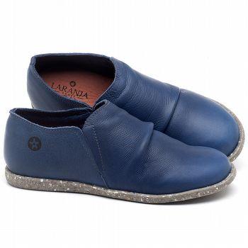 Tênis Cano Baixo em couro Azul Bic - Código - 137221