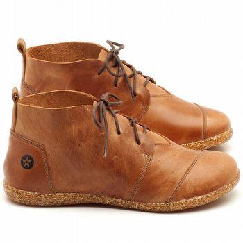 Flat Boot em couro Laranja Ferrugem - Código - 137155