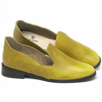 Mocassim Classic em couro Amarelo - Código - 9467