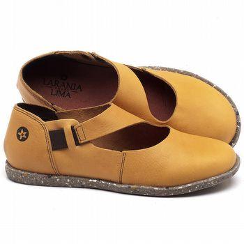 Flat Shoes em couro Amarelo - Código - 137222