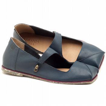 Sapatilha Alternativa em couro Azul Safira - Código - 145007