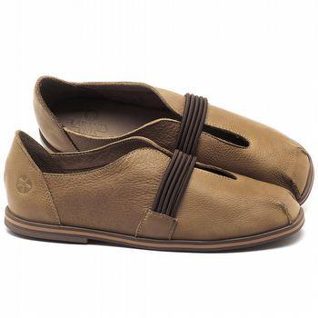 Flat Shoes em couro Conhaque - Código - 3053