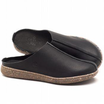 Flat Shoes em couro Preto - Código - 137258