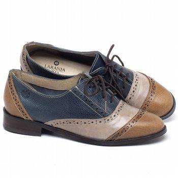 Oxford Laranja Lima com salto de 3cm em couro Colorido - Código - 9469