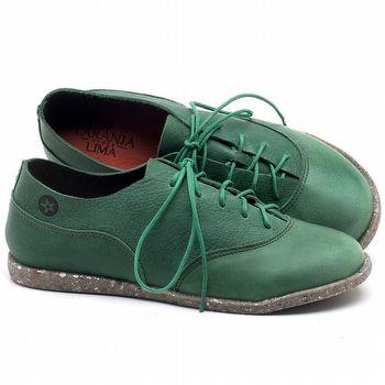Tênis Cano Baixo em couro Verde - Código - 137224