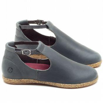 Flat Shoes em couro Azul - Código - 137169