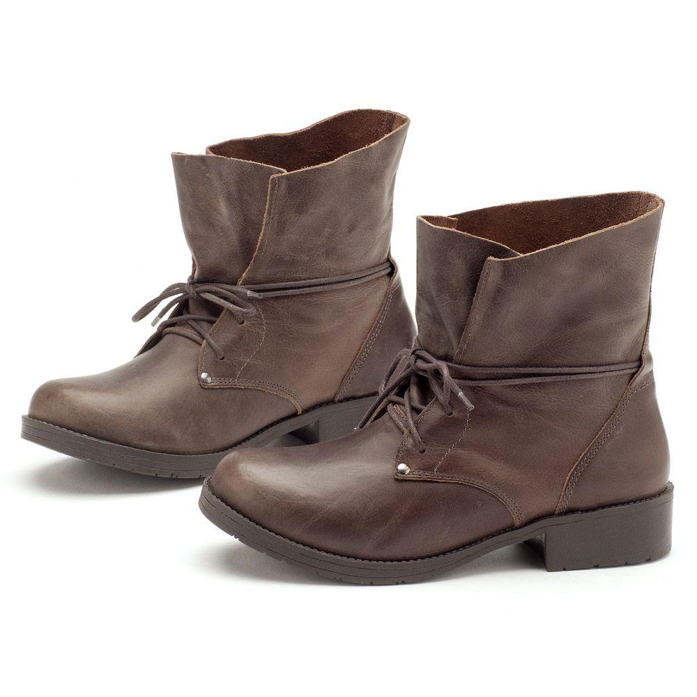 a256ce7d0 Bota Coturno Café com amarração 137003 | Laranja Lima Shoes