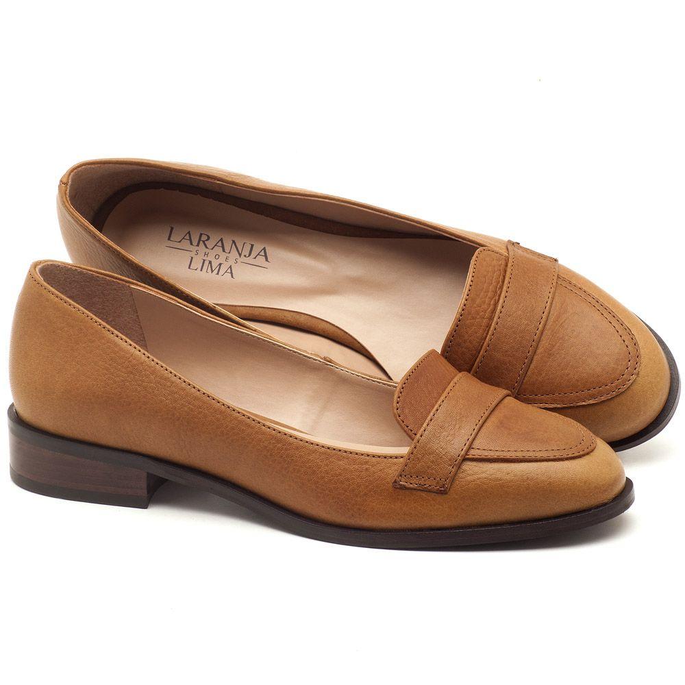 db4385a51 Oxford Flat em couro caramelo - Código - 9439 | Laranja Lima Shoes