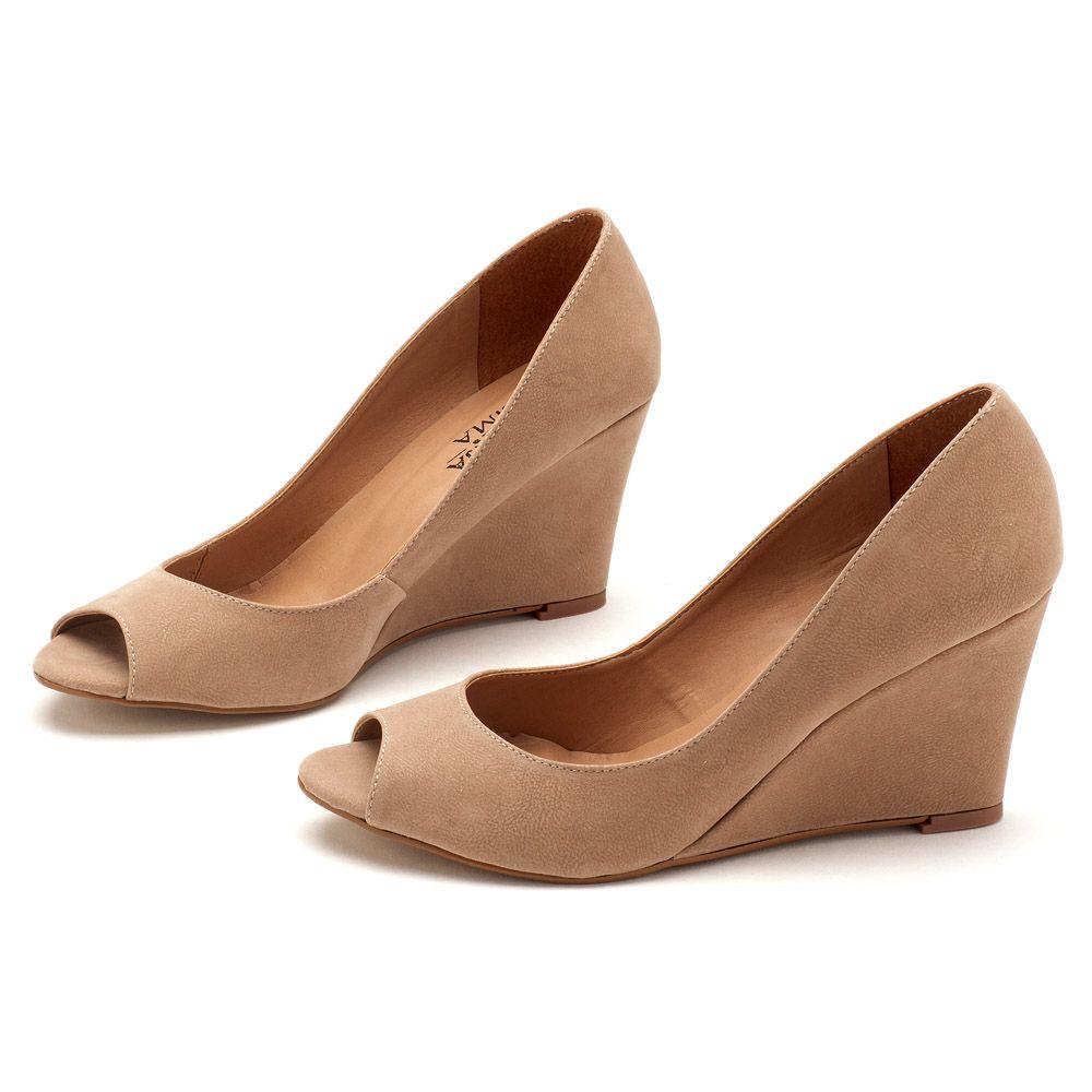 e444d671a9 Anabela Top de 8 cm Nude 9345 | Laranja Lima Shoes
