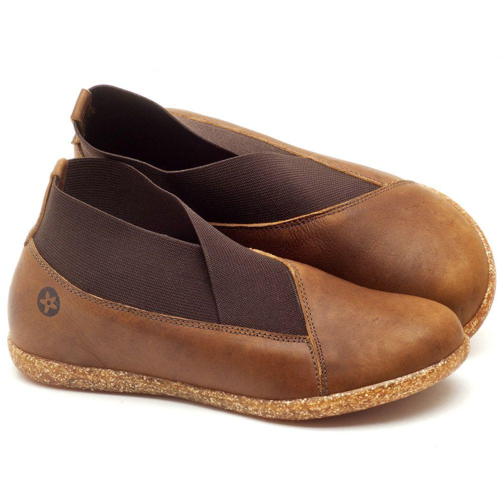 6b487932b Flat Shoes em couro Caramelo - Código - 137172 | Laranja Lima Shoes