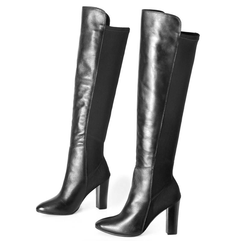 e0c2a921e Bota Cano longo Preto Over The Knee 107270 | Laranja Lima Shoes