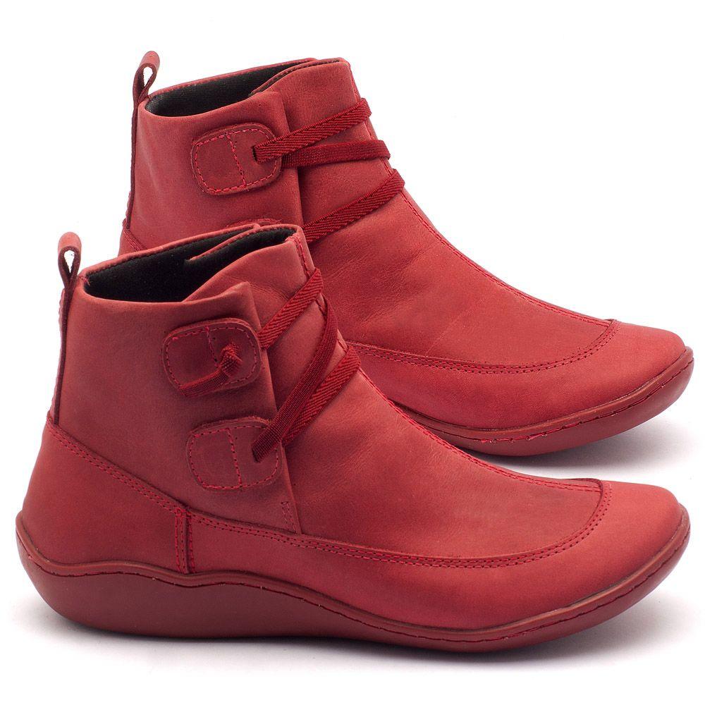 c5fb2d61fbb38 Tênis Cano Alto Vermelho Amarração Elástico 139001 | Laranja Lima Shoes