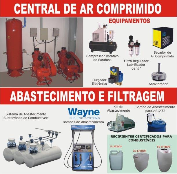 Centrais de Ar Comprimido e Abastecimento