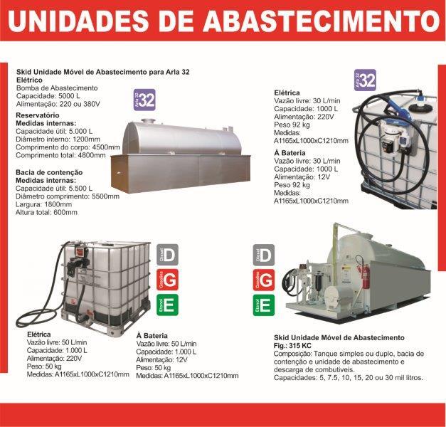 Unidades de Abastecimento - Arla 32 e Diesel