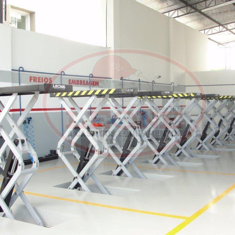 Elevador Tesoura Embutido - Trifásico - Capacidade 3500kg
