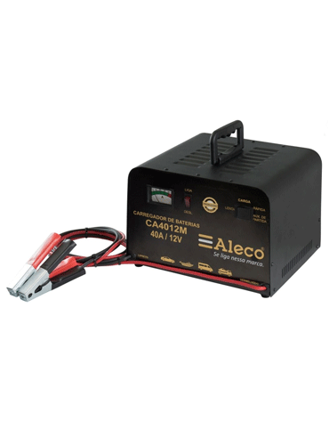 Carregador de Bateria Manual - 12V - Lento - Alleco