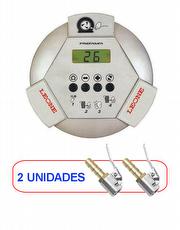 Calibrador Eletrônico A lumínio 145lbs 220v Premium Stock Air + 2 Bicos de Ar Auto Travante Tipo Europeu BRINDE