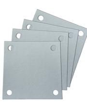 Papel Filtrante Quadrado 4 Furos 12x12 - Caixa com 10kg - LEONE