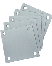 Papel Filtrante Quadrado 4 Furos 7x7 - Caixa com 10kg - Metalsinter