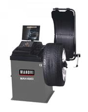 Balanceadora de Pneus  com Acionamento Motorizado Aro 10 à 24 Freio a Disco Ponteiro Laser Tela 17´´ Led MAH-6003 - Mahovi