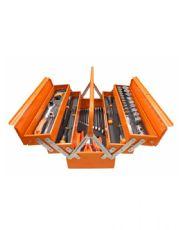 Caixa Sanfonada 5 Gavetas com Jogo de 59 Ferramentas Kit Pro - Beta