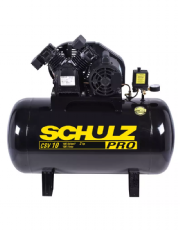 Compressor de Ar 10 Pés 100L 2HP 140PSI Monofásico PROCSV10/100 - Schulz
