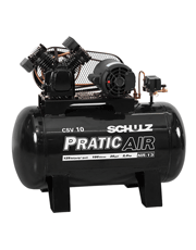 Compressor de Ar Trifásico - 120 psi - 10 PCM - 100 Lts - PRATIC AIR - Schulz