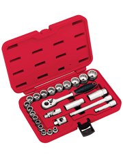 Jogo de Soquetes Multi-lock 25 Peças - Robust