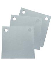 Papel Filtrante Quadrado 2 Furos 7x7 - Caixa com 5kg - LEONE