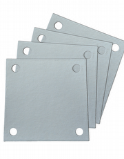 Papel Filtrante Quadrado 4 Furos 7x7 - Caixa com 10kg - LEONE